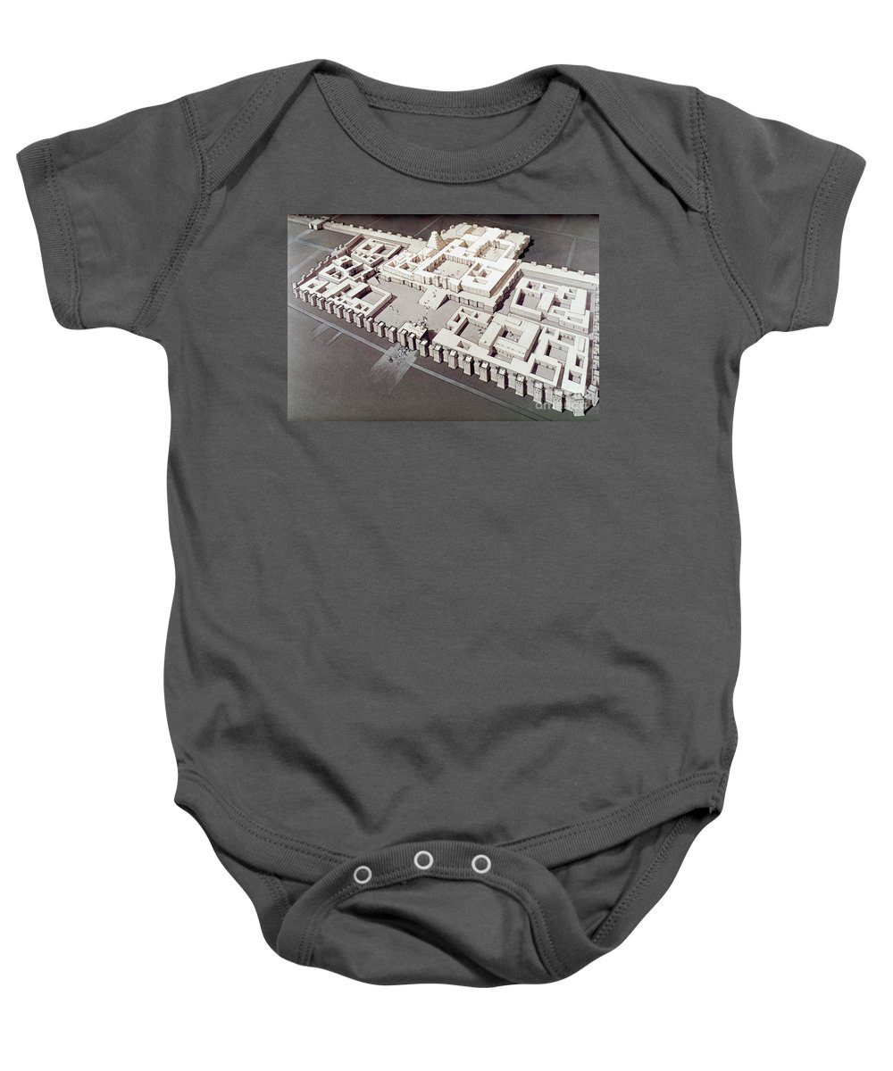 700 B.c. Baby Onesie featuring the photograph Palace At Khorsabad by Granger