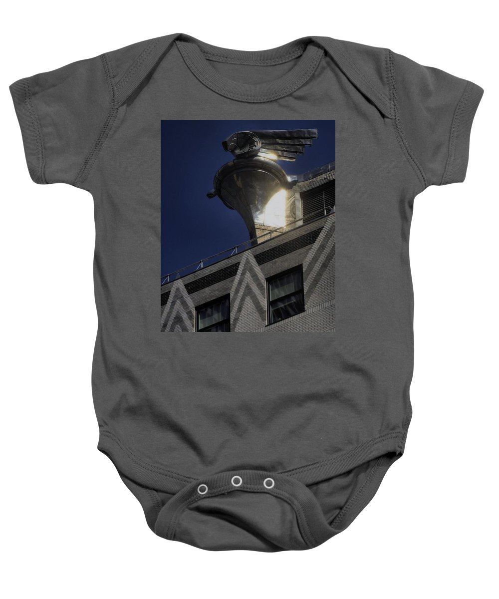 Architectural Art Baby Onesie featuring the photograph Palace Guard-new York City by Robert McCubbin