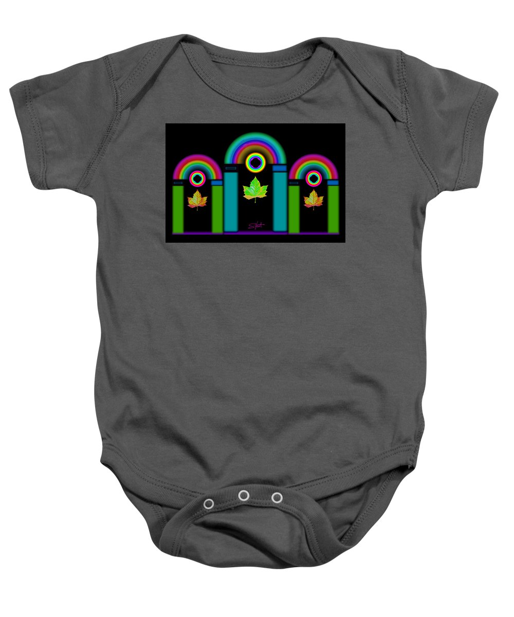 Classical Baby Onesie featuring the painting Palladian Fall by Charles Stuart