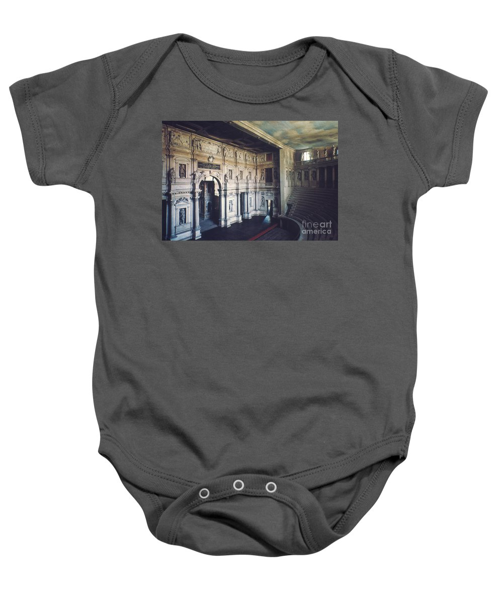 1579 Baby Onesie featuring the photograph Palladio: Teatro Olimpico by Granger