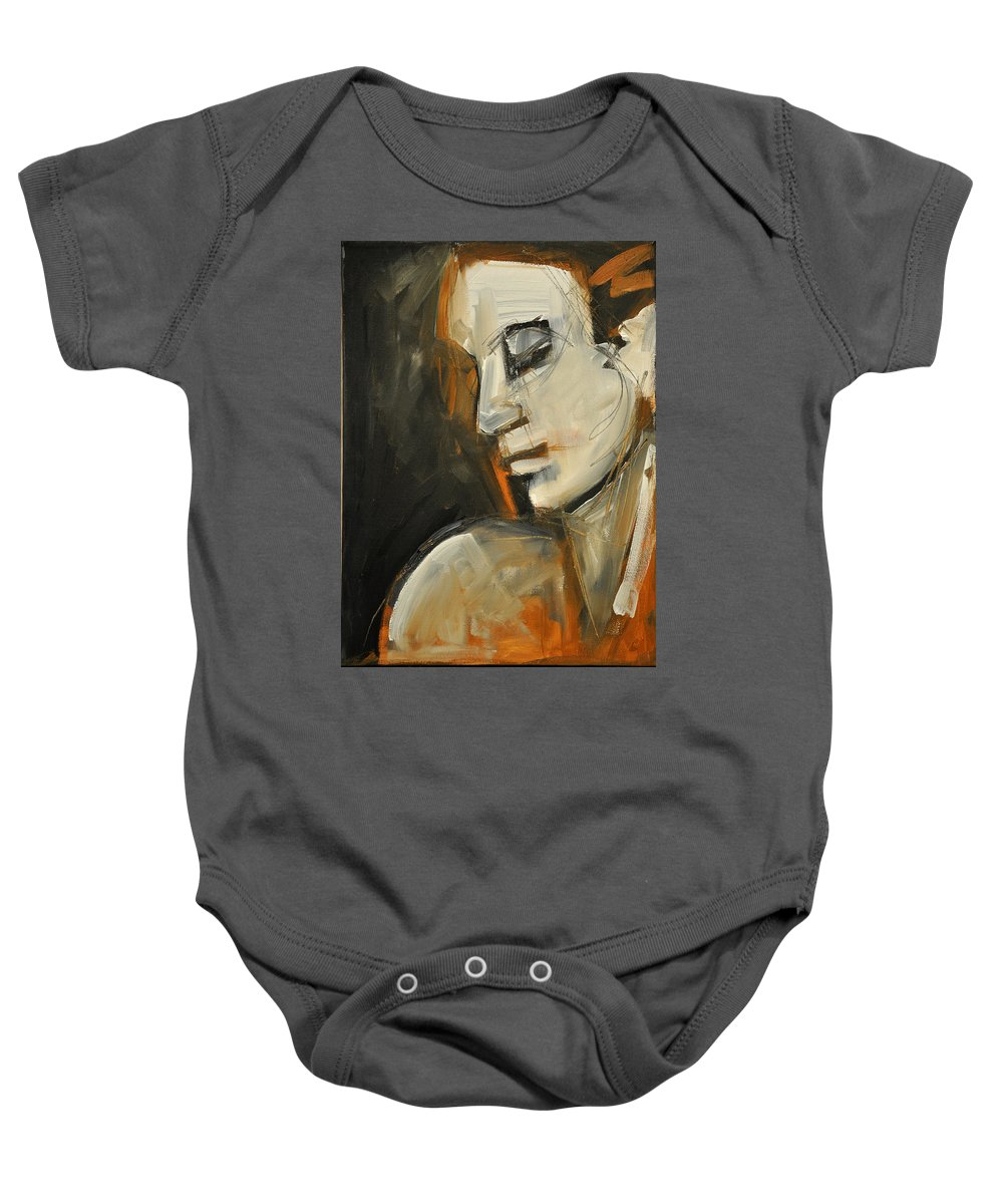 Woman Baby Onesie featuring the painting Pandora by Tim Nyberg