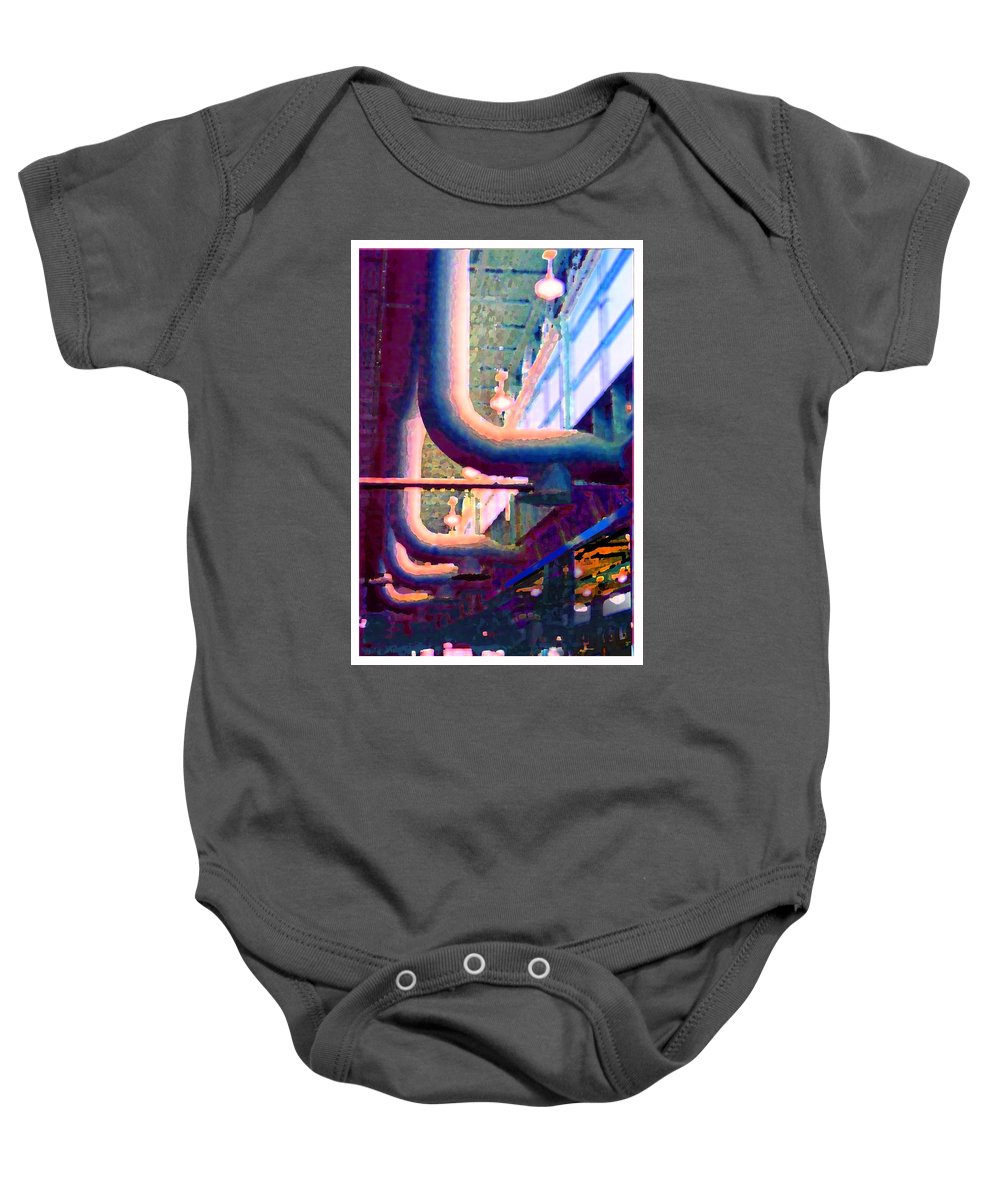 Abstract Baby Onesie featuring the photograph panel one from Star Factory by Steve Karol