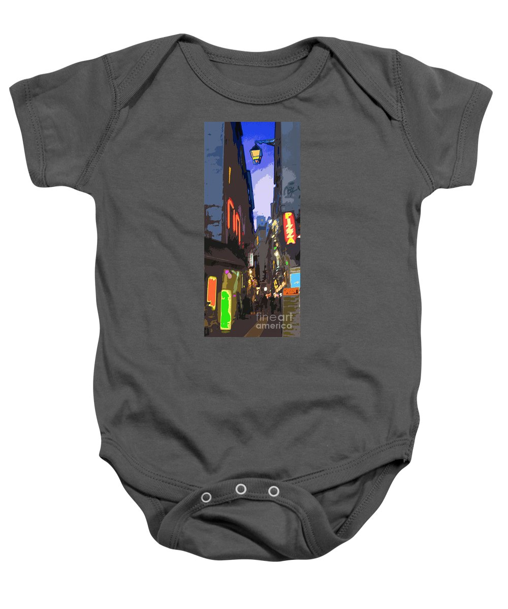 Paris Baby Onesie featuring the photograph Paris Quartier Latin 01 by Yuriy Shevchuk