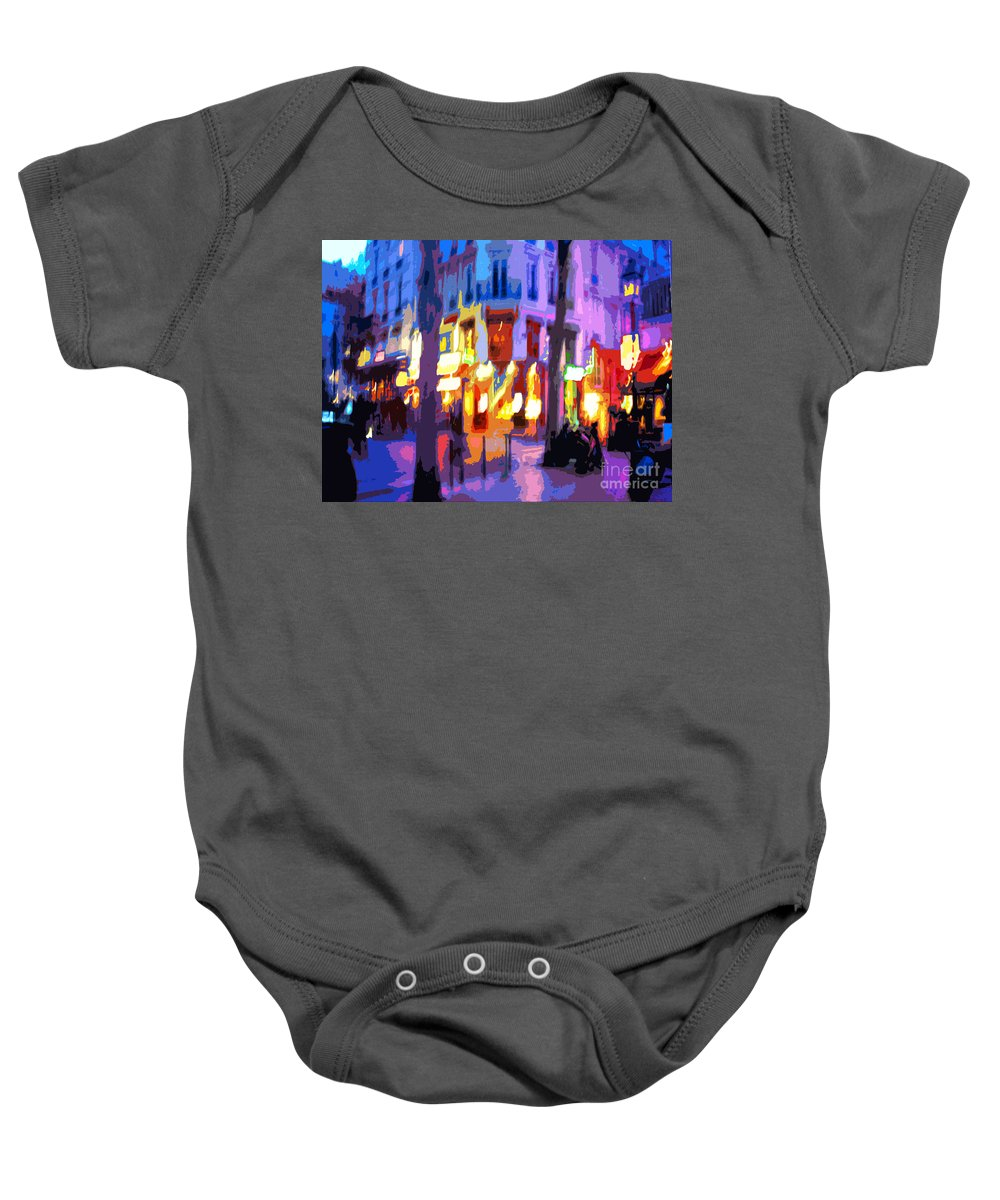 Paris Baby Onesie featuring the photograph Paris Quartier Latin 02 by Yuriy Shevchuk
