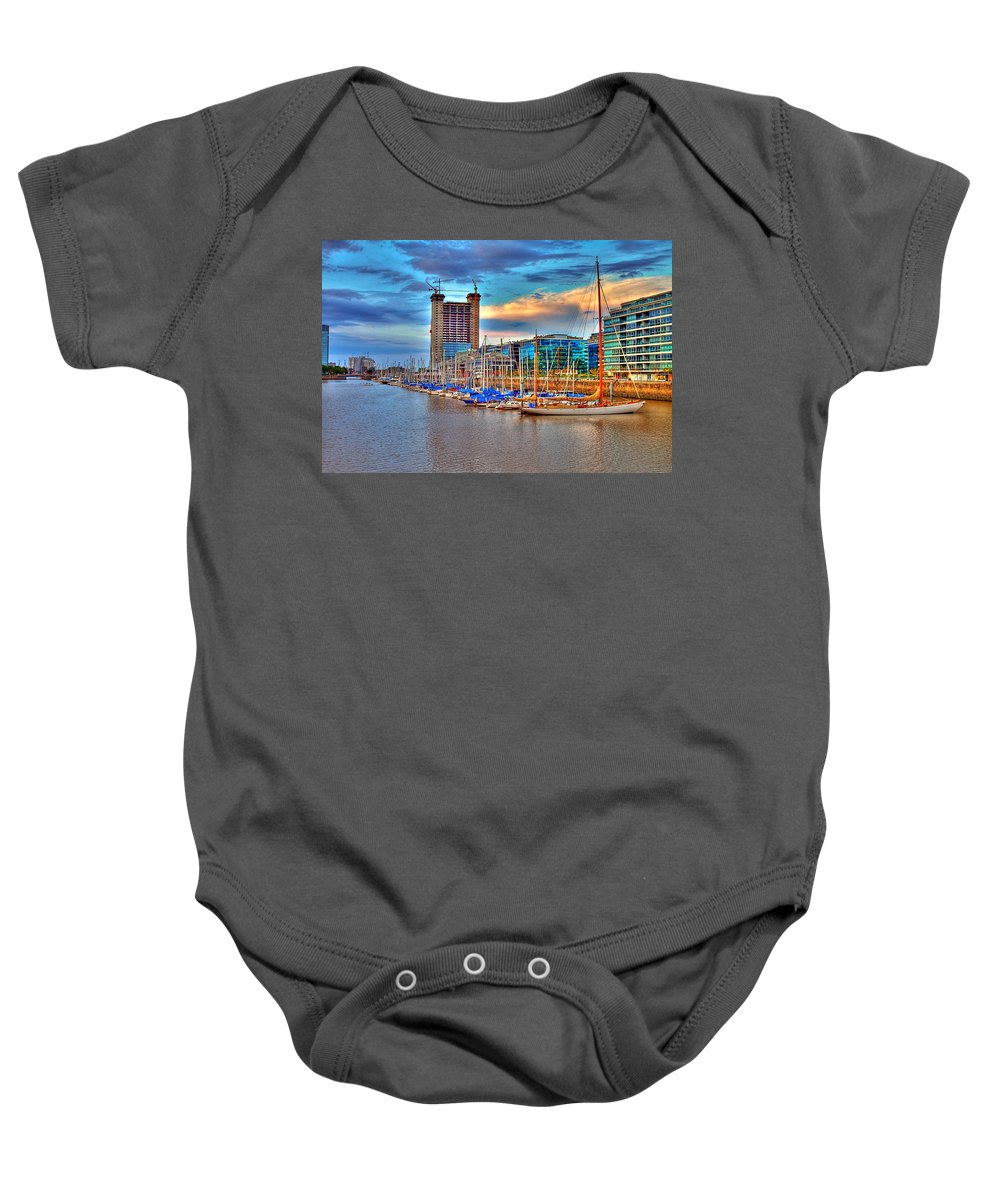 Buenos Baby Onesie featuring the photograph Parking Boat - Puerto Madero by Francisco Colon
