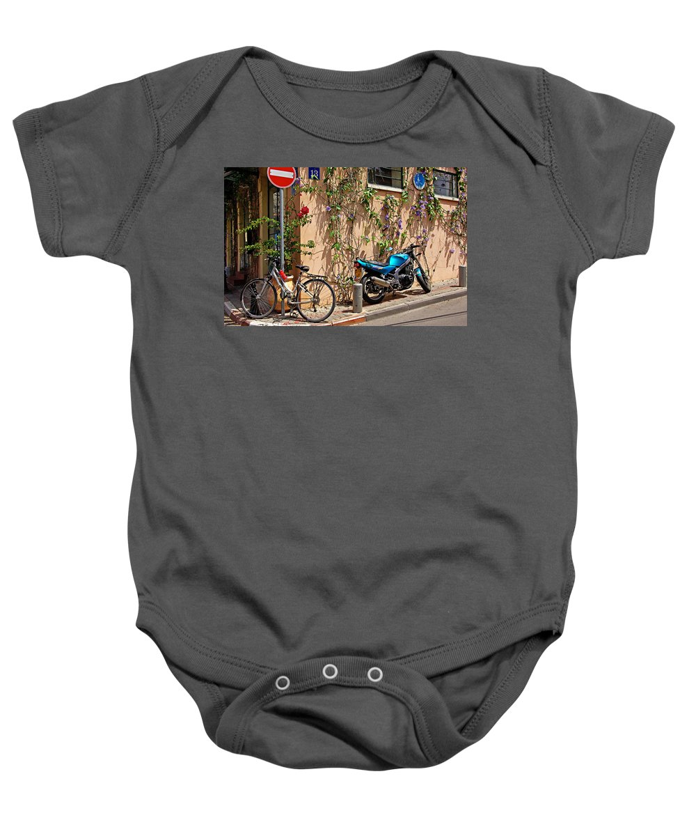 Parking Baby Onesie featuring the photograph Parking Corner by Zal Latzkovich