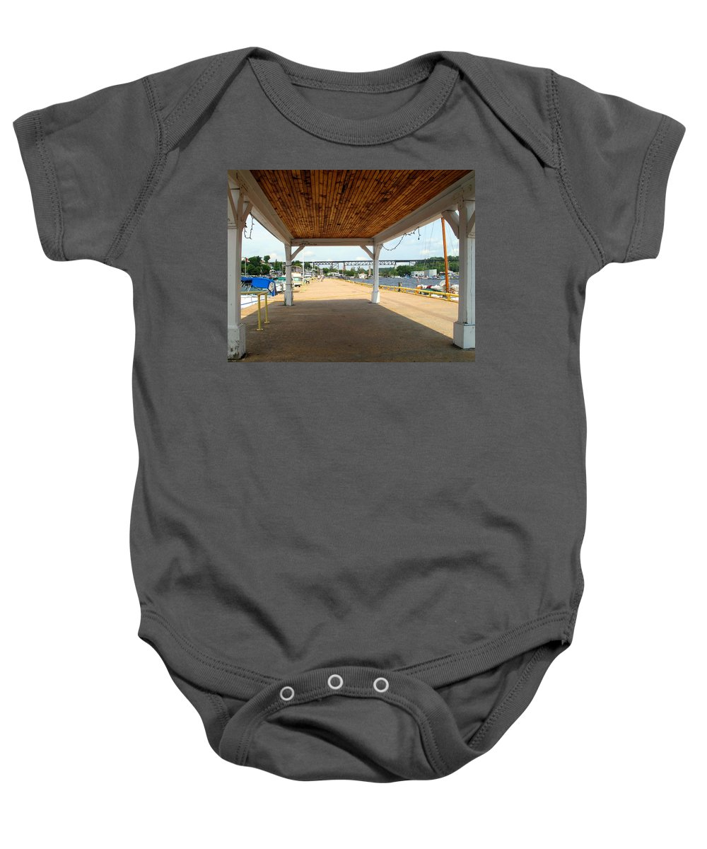 Parry Sound Baby Onesie featuring the photograph Parry Sound by Ian MacDonald