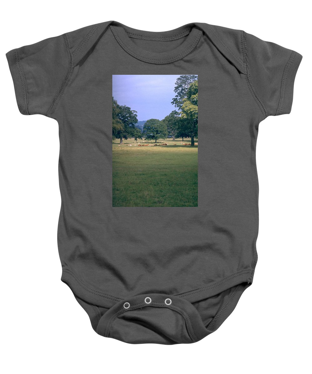 Great Britain Baby Onesie featuring the photograph Pasture by Flavia Westerwelle