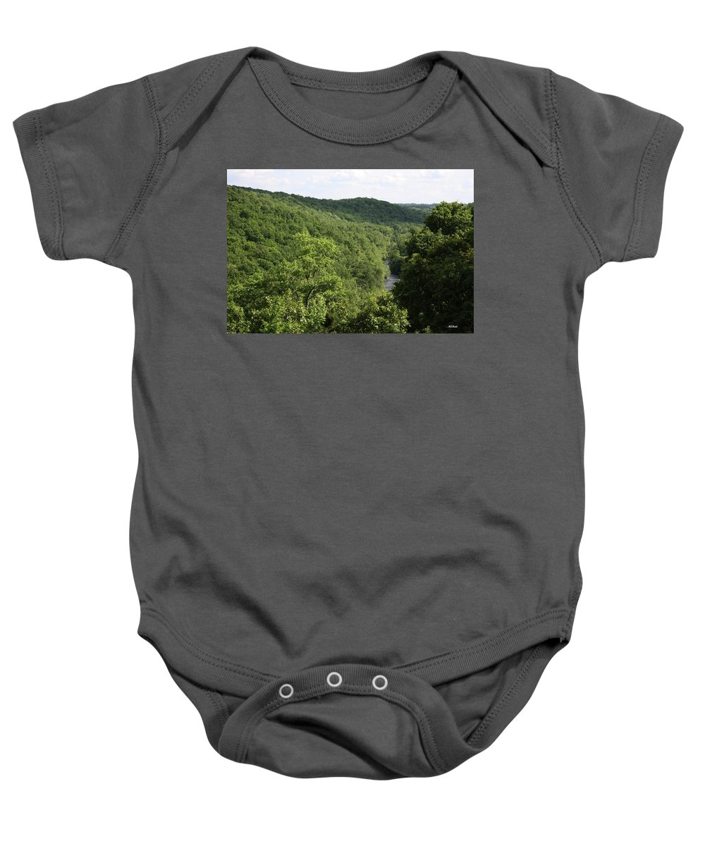 Maryland Baby Onesie featuring the photograph Patapsco Valley State Park - Overlook by Ronald Reid