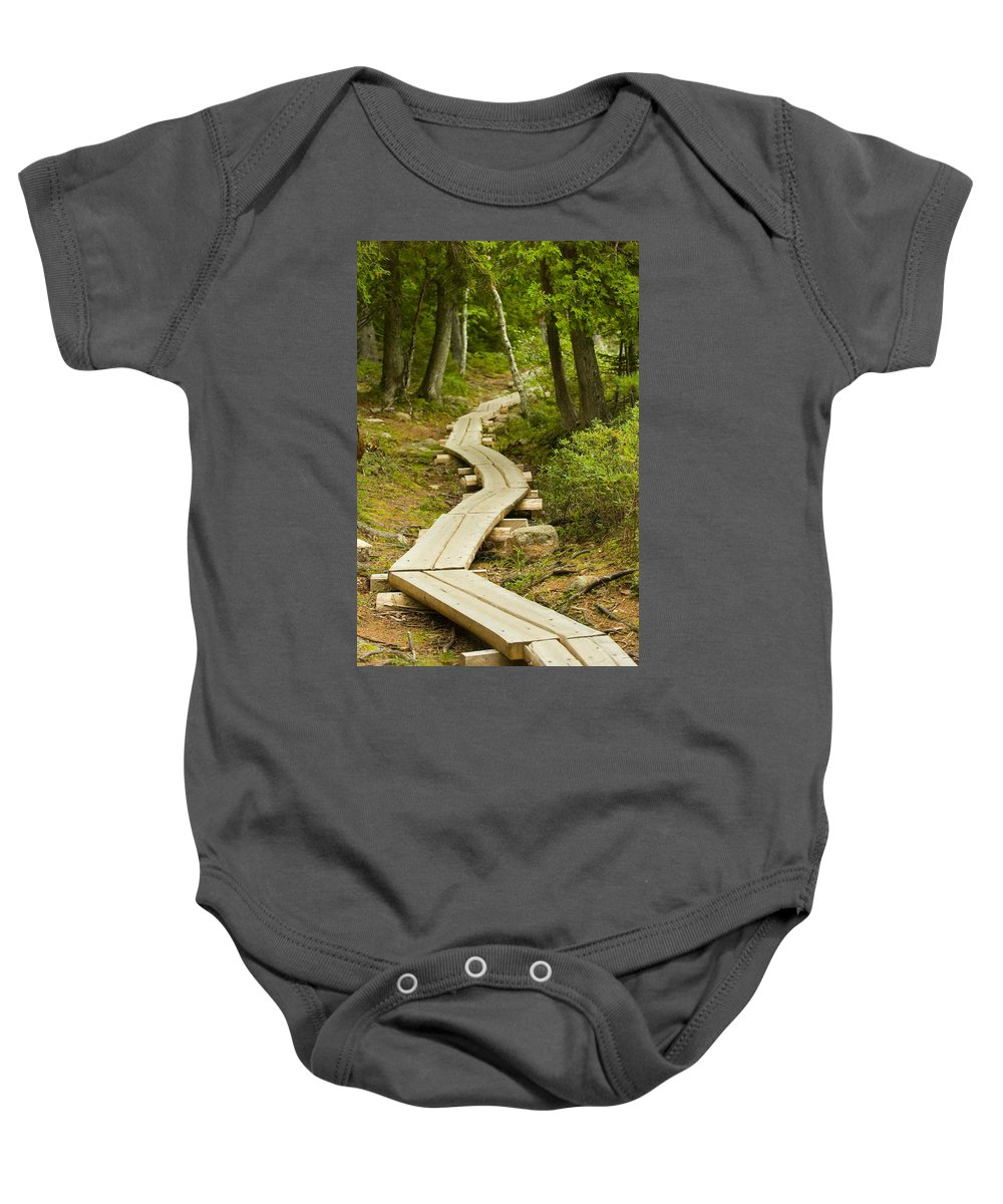 Forest Baby Onesie featuring the photograph Path Into Unknown by Sebastian Musial