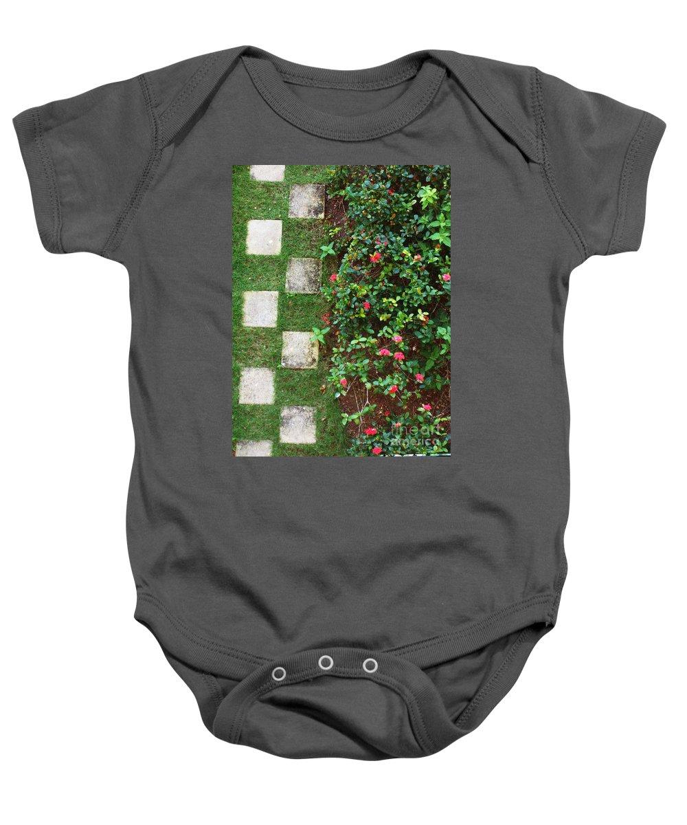 Pattern Baby Onesie featuring the photograph Pattern Work by Deborah Crew-Johnson