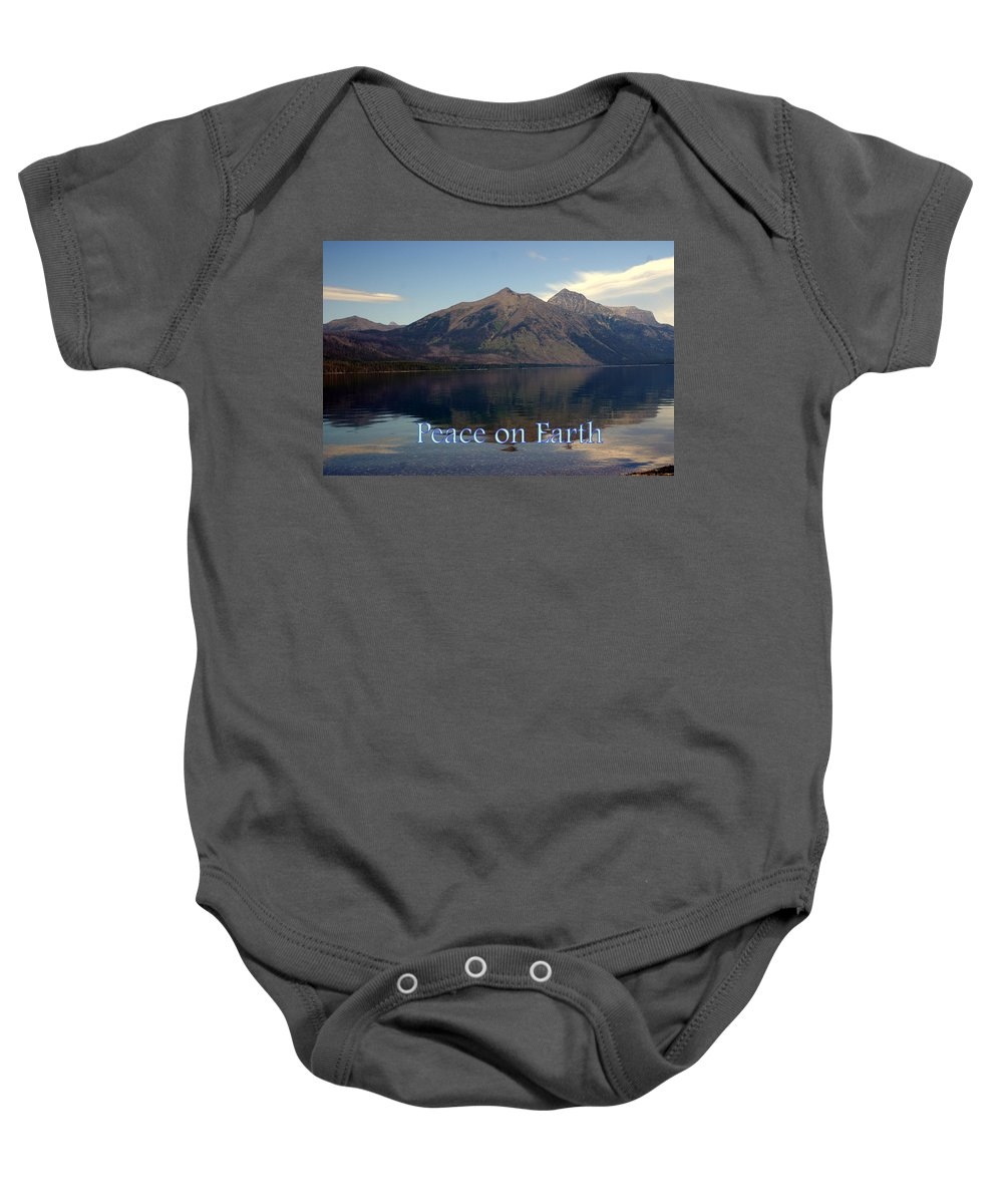 Photo Greeting Card Baby Onesie featuring the greeting card Peace On Earth 1 by Marty Koch