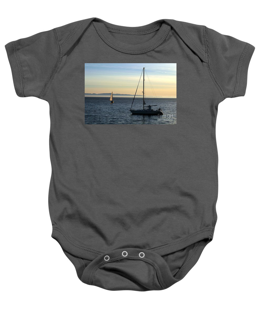 Clay Baby Onesie featuring the photograph Peaceful Day In Santa Barbara by Clayton Bruster