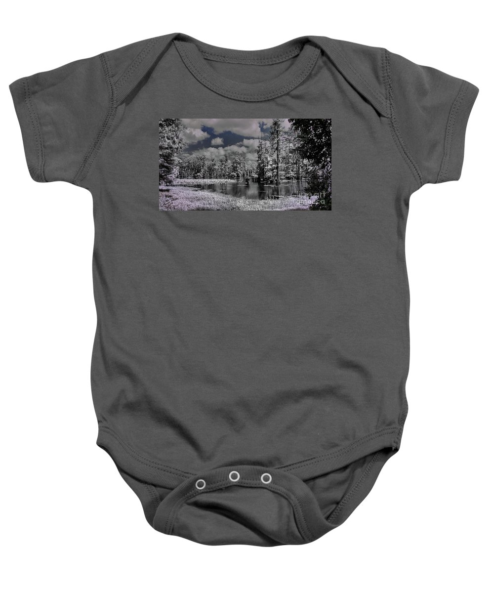 Pond Baby Onesie featuring the photograph Peaceful Pond by Aaron Shortt