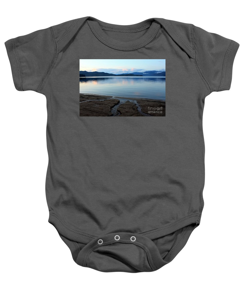 Beach Baby Onesie featuring the photograph Peaceful Priest Lake by Carol Groenen