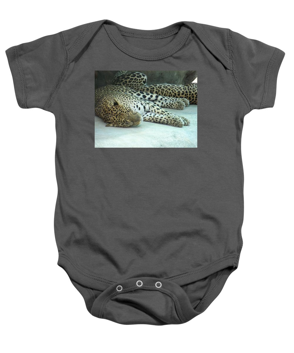 Chetah Baby Onesie featuring the photograph Peaceful Sleep by Laurie Paci