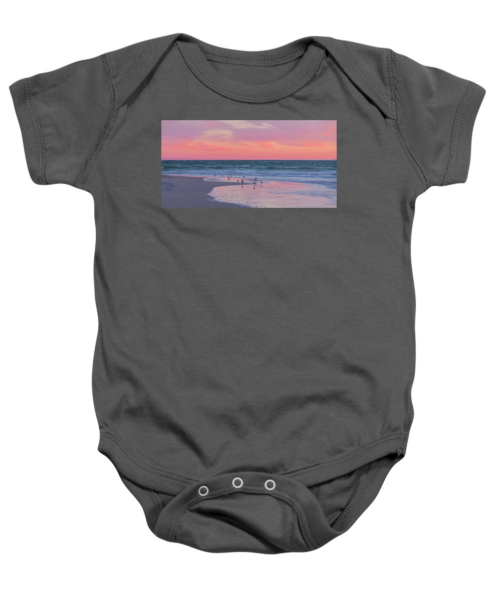 Sunset Baby Onesie featuring the photograph Peaceful Witnesses by Betsy Knapp
