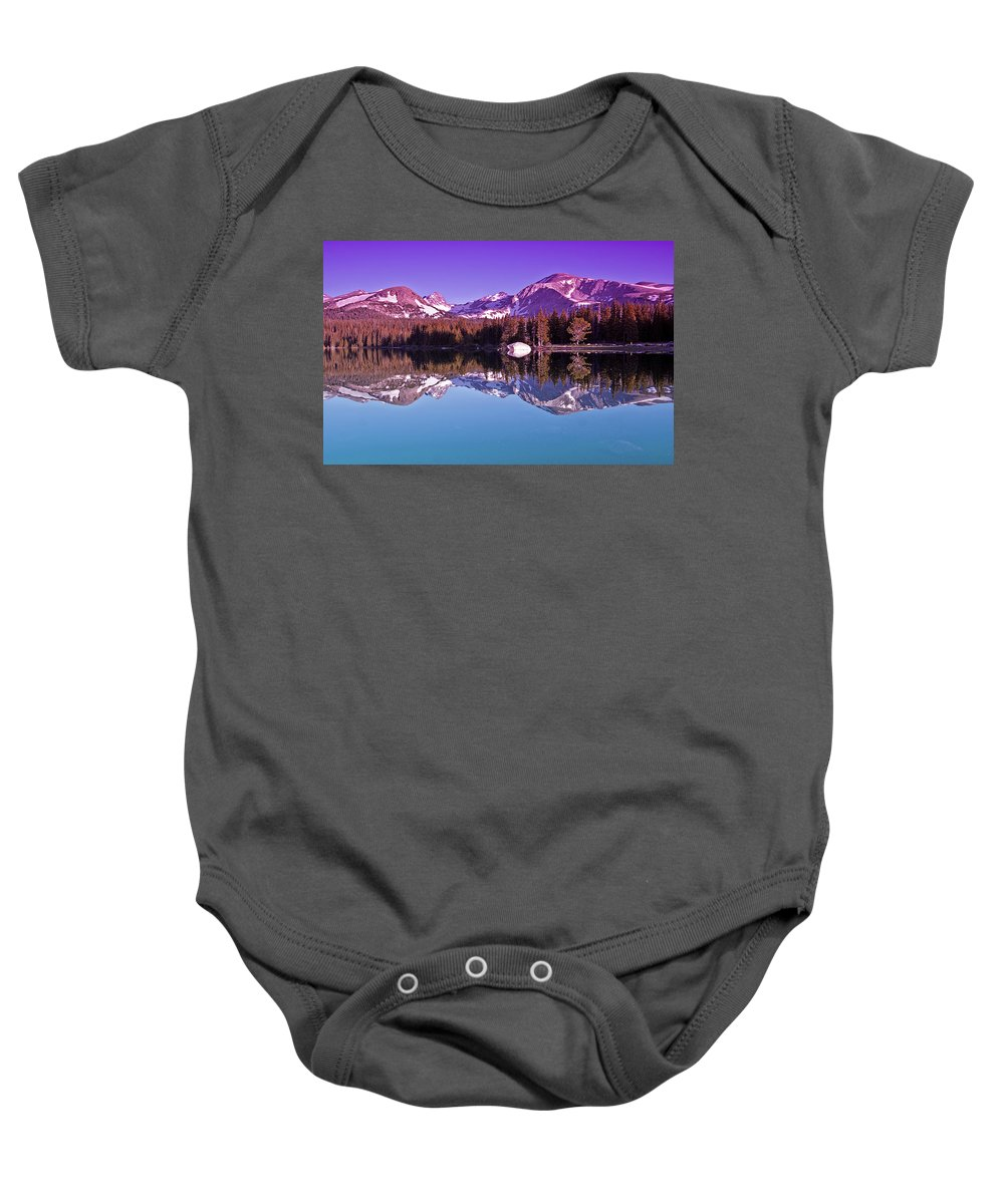 Mountain Baby Onesie featuring the photograph Peaks In The Mirror by Brian Kerls