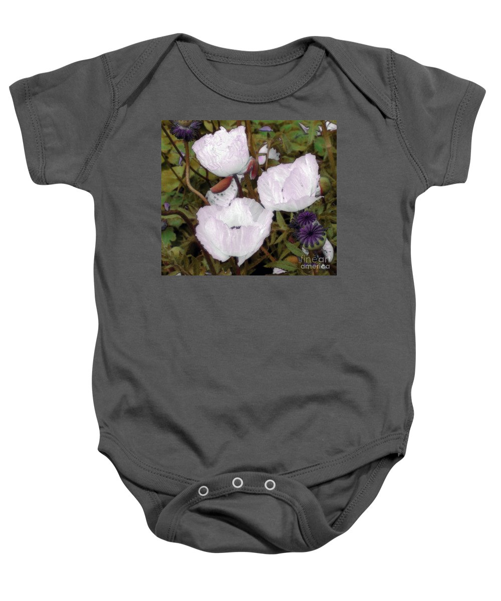 Blooms Baby Onesie featuring the digital art Pearlblossoms by RC deWinter