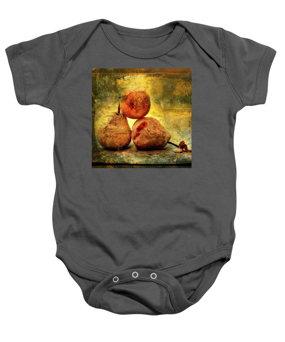 Aging Process Baby Onesie featuring the photograph Pears by Bernard Jaubert
