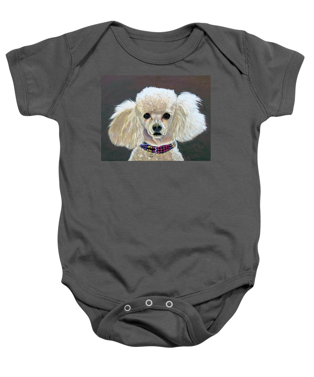 Dog Baby Onesie featuring the painting Pebbles by Stan Hamilton
