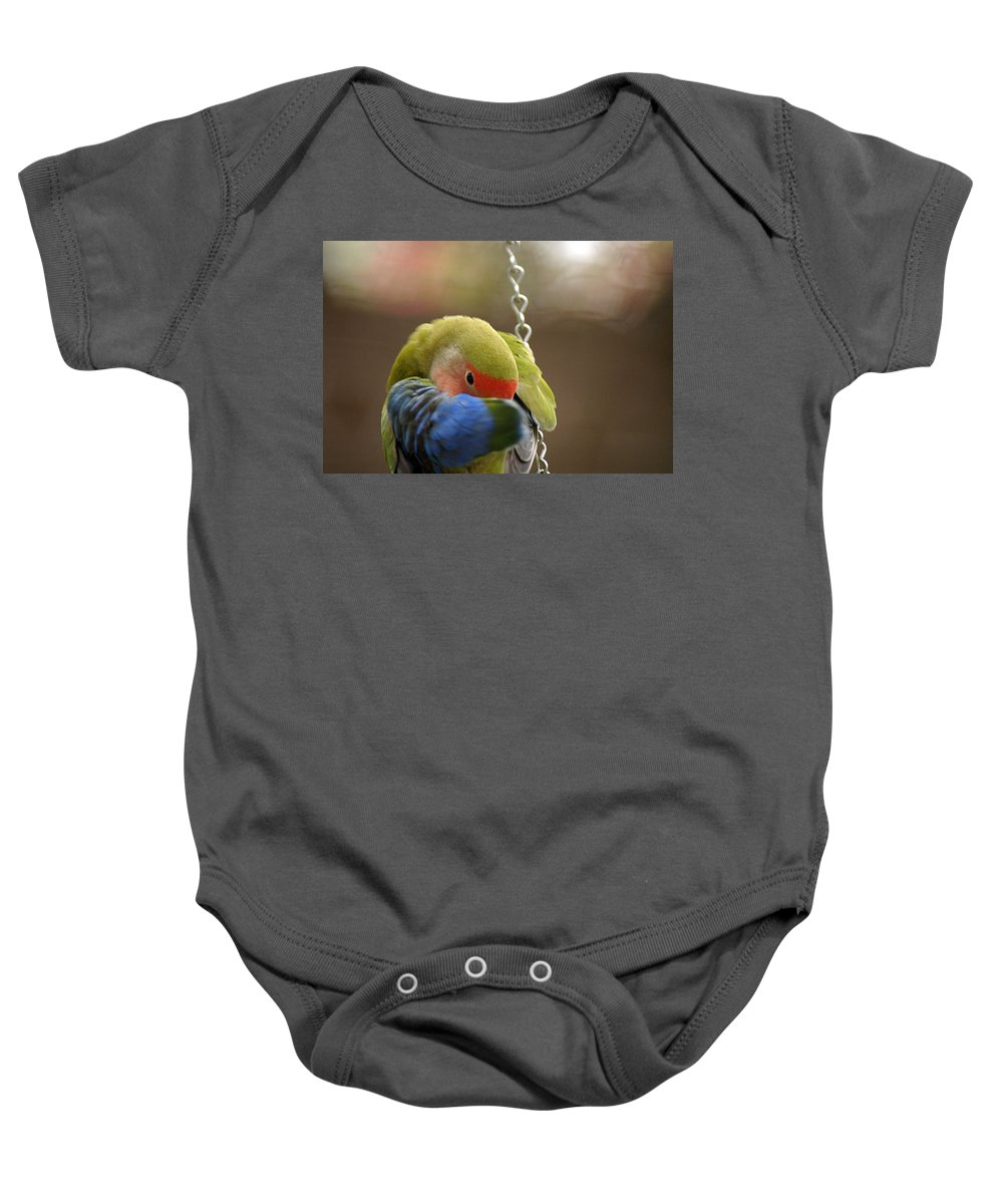 Clay Baby Onesie featuring the photograph Peek A Boo by Clayton Bruster
