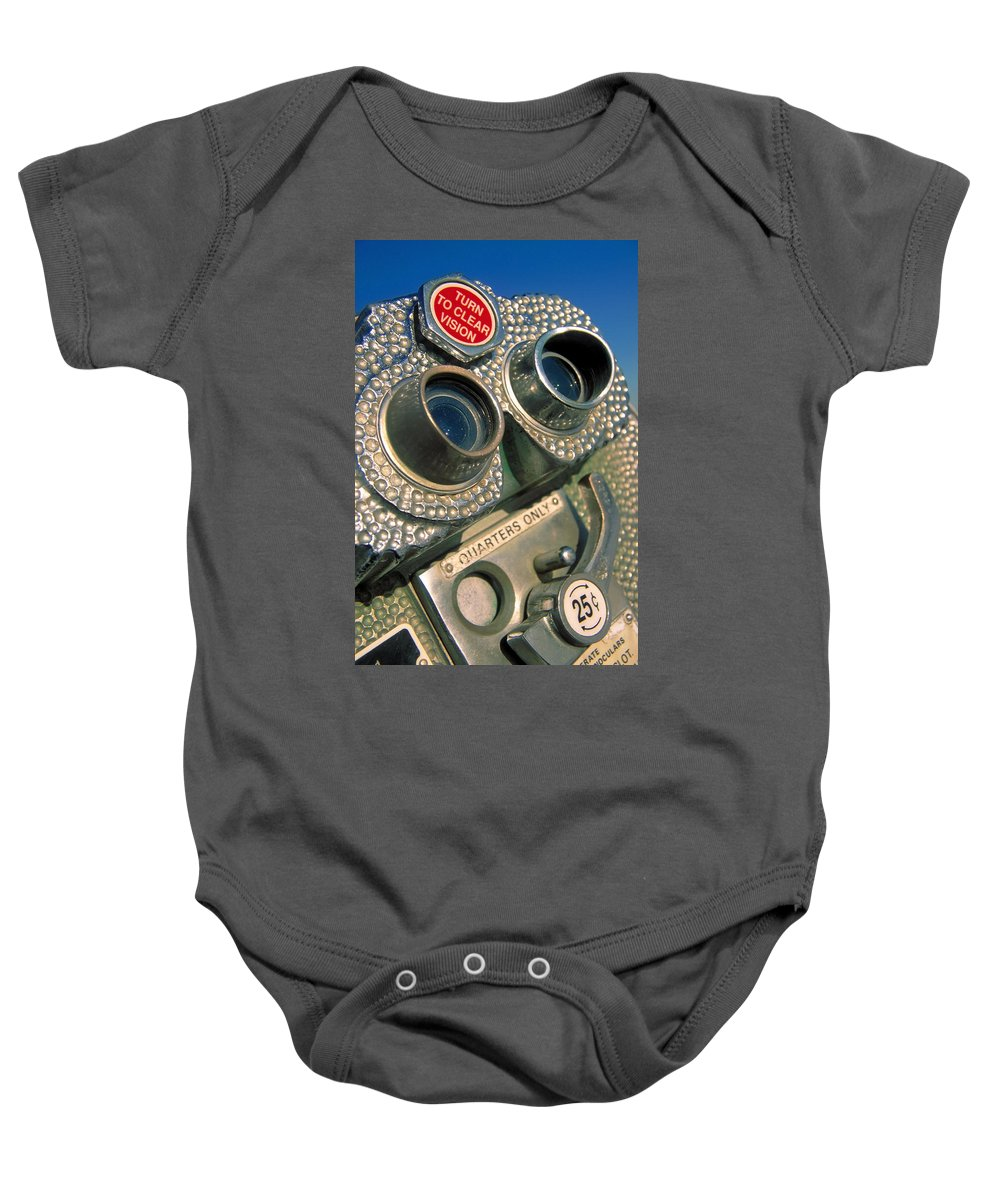 View Baby Onesie featuring the photograph Peep Show by Skip Hunt
