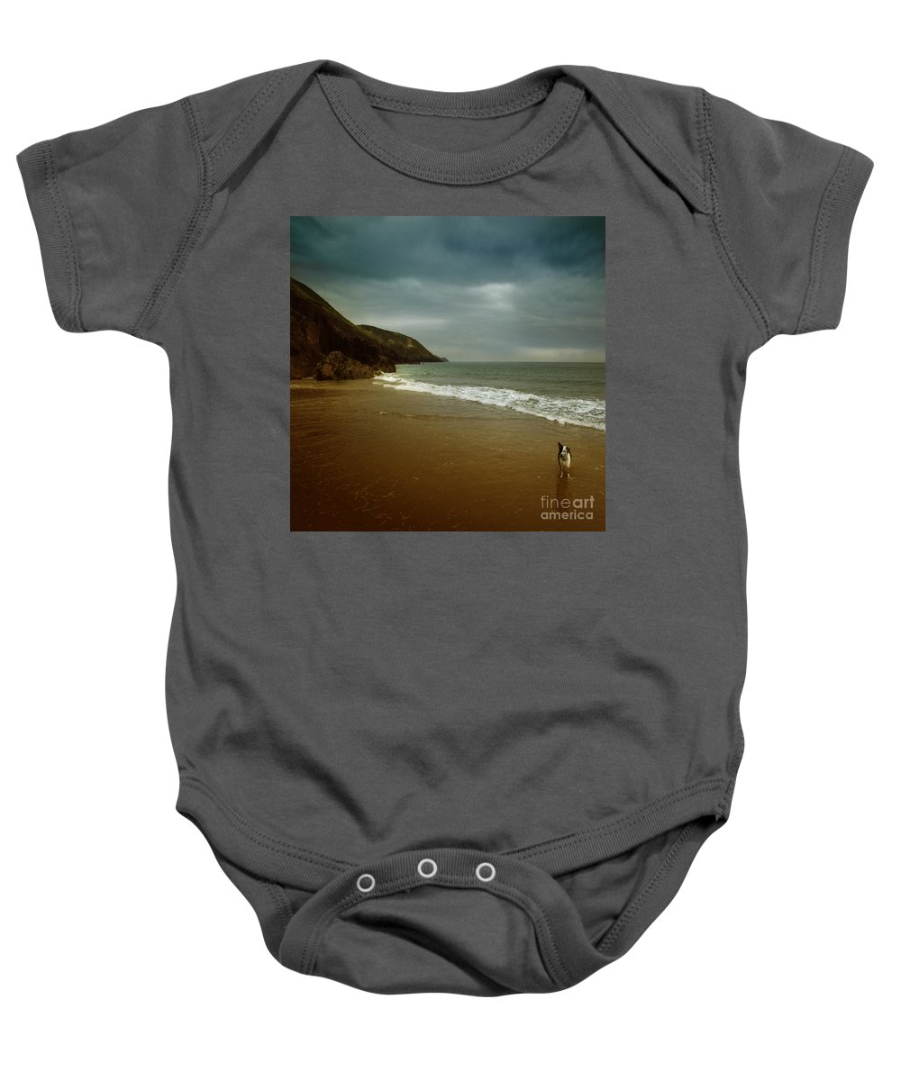 Beach Baby Onesie featuring the photograph Pembrokeshire by Angel Ciesniarska