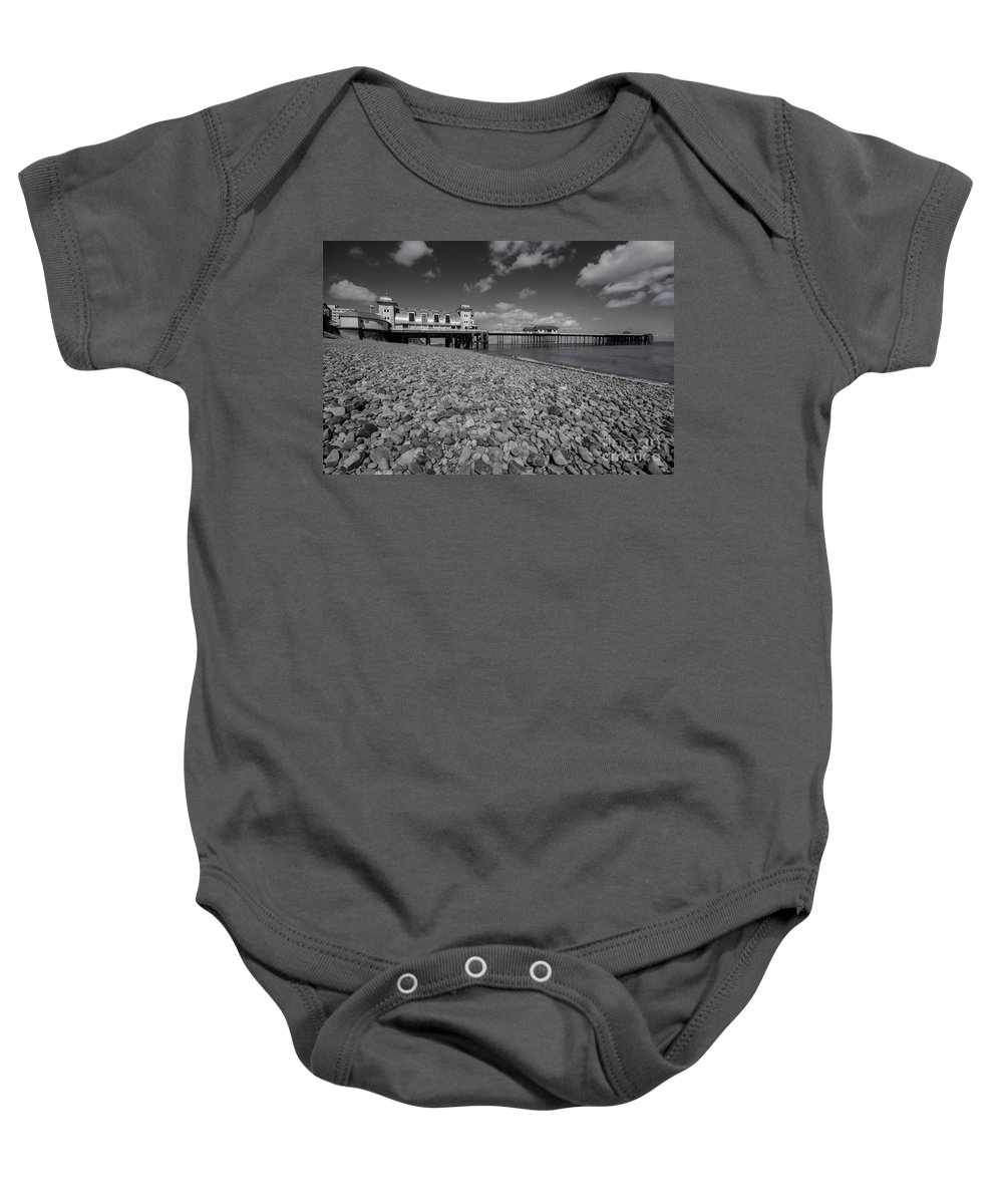 Penarth Pier Baby Onesie featuring the photograph Penarth Pier 1 by Steve Purnell
