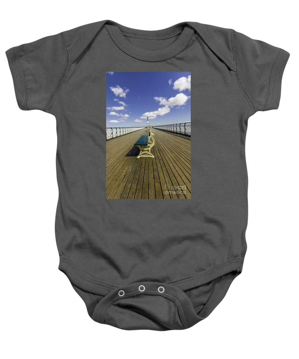 Penarth Pier Baby Onesie featuring the photograph Penarth Pier 9 by Steve Purnell