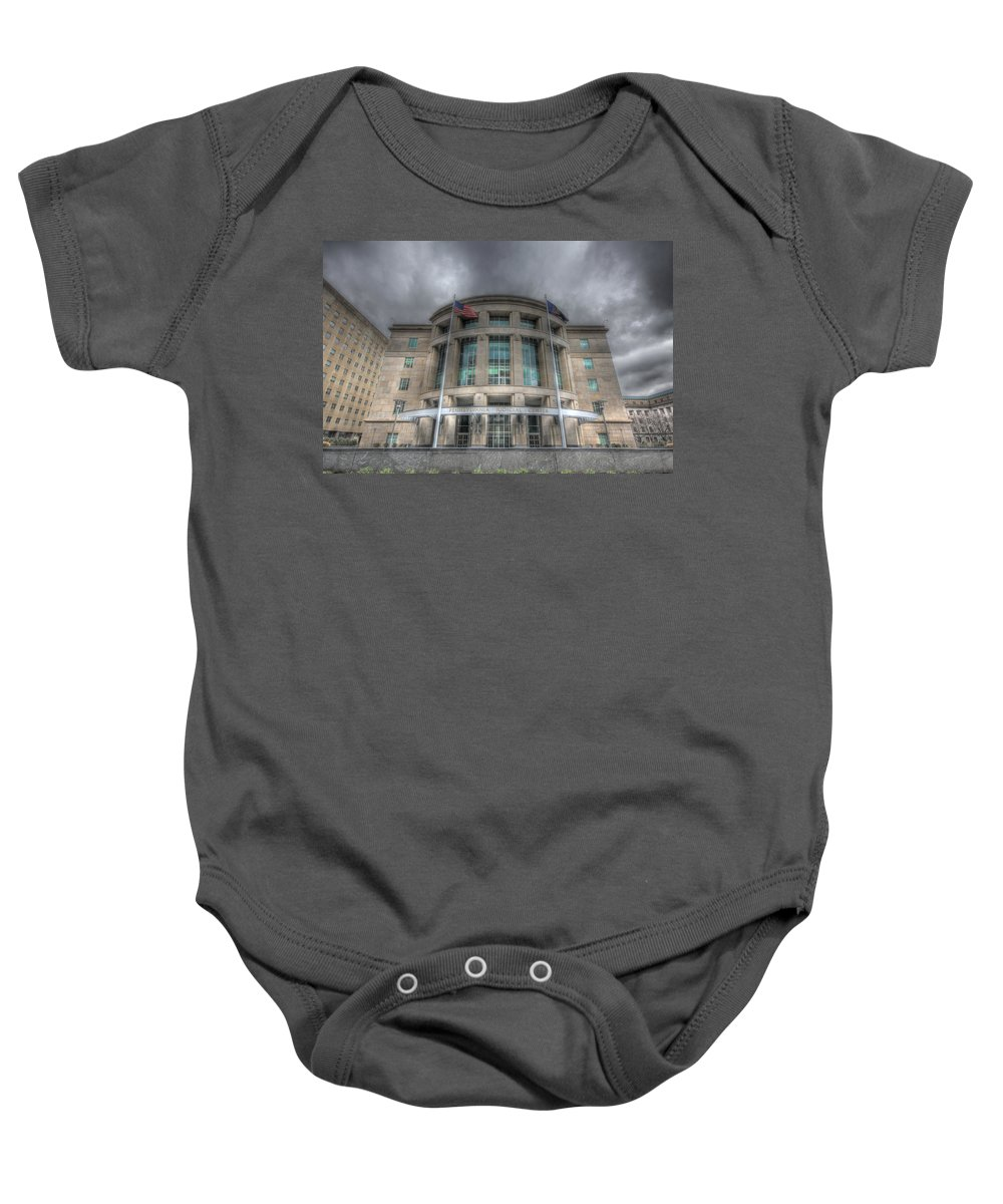 Harrisburg Baby Onesie featuring the photograph Pennsylvania Judicial Center by Shelley Neff