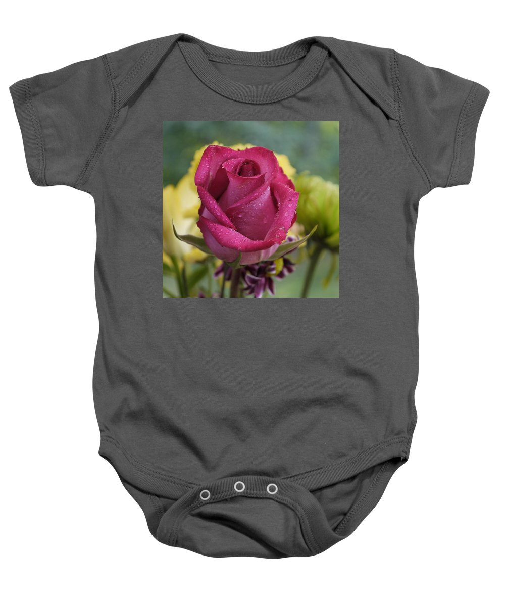 Rose Baby Onesie featuring the photograph Perfectly Pink by Nancie DeMellia