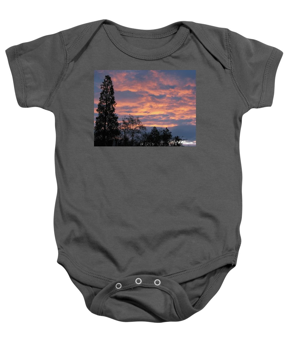 Blue Baby Onesie featuring the photograph Perrydale Sunrise by Teri Schuster