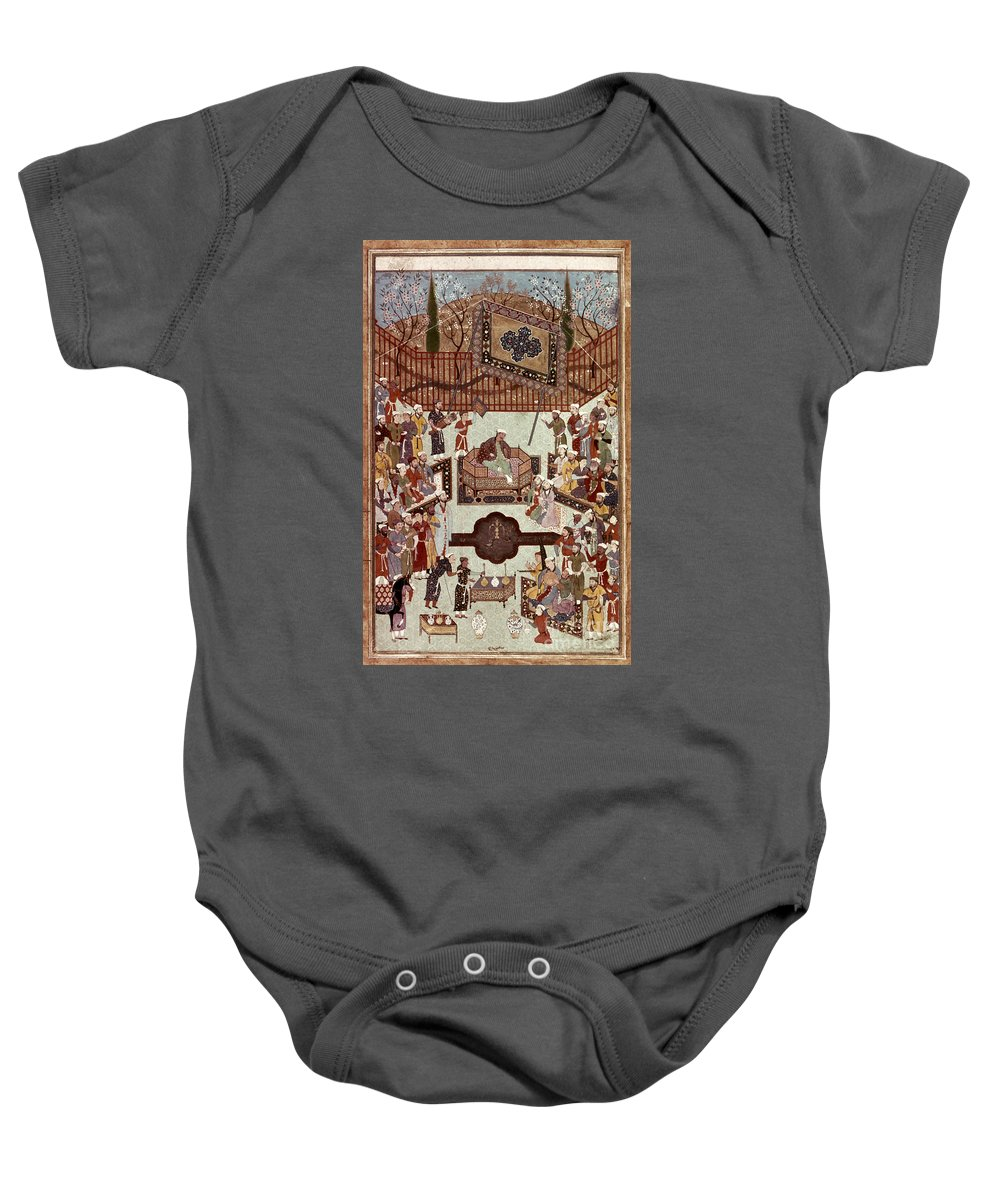 1567 Baby Onesie featuring the photograph Persian Miniature, 1567 by Granger