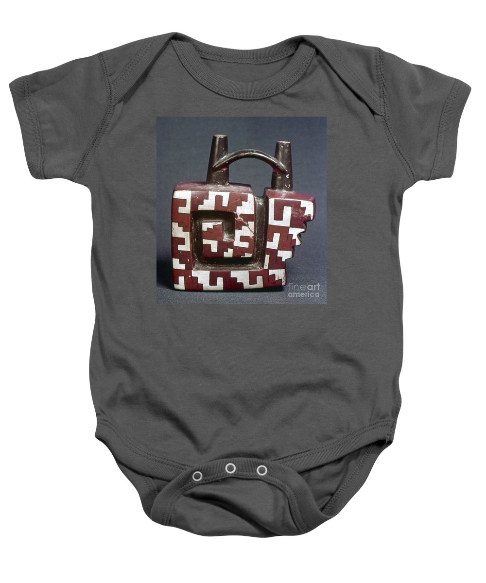 Ancient Baby Onesie featuring the photograph Peru: Pre-columbian Vessel by Granger