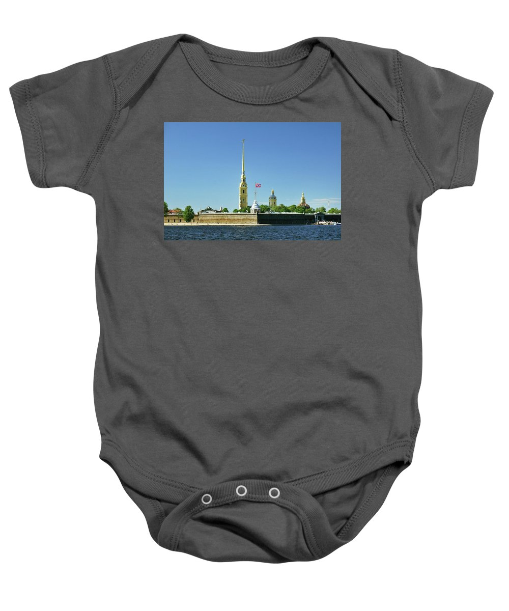 Saint Baby Onesie featuring the photograph Peter And Paul Fortress. Saint Petersburg, Russia by David Lyons