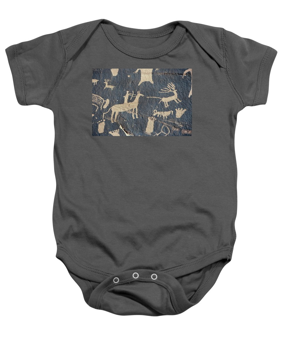American Baby Onesie featuring the photograph Petroglyphs, Utah by Granger