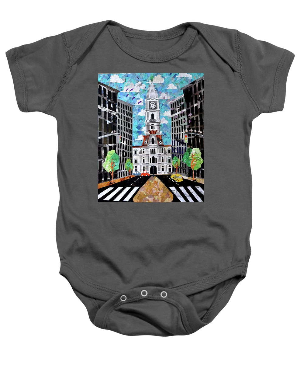 Philadelphia Baby Onesie featuring the painting Philadelphia by Blair Barbour