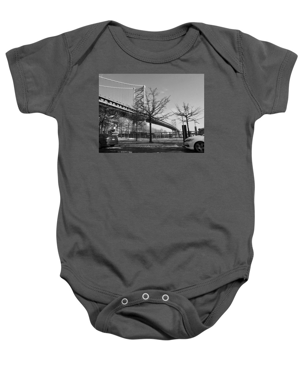Philly Baby Onesie featuring the photograph Philadelphia by Olga Melendez