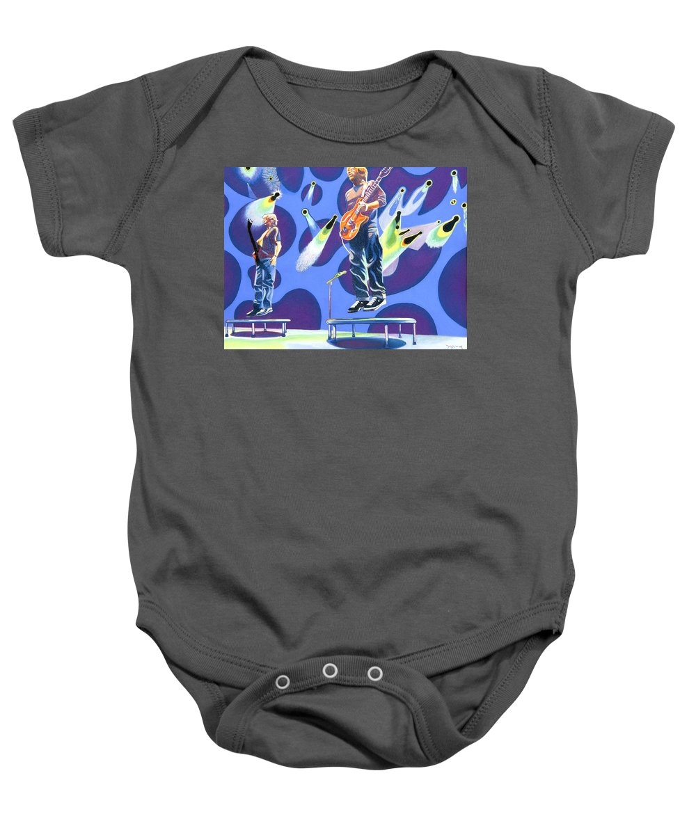 Phish Baby Onesie featuring the drawing Phish Tramps by Joshua Morton
