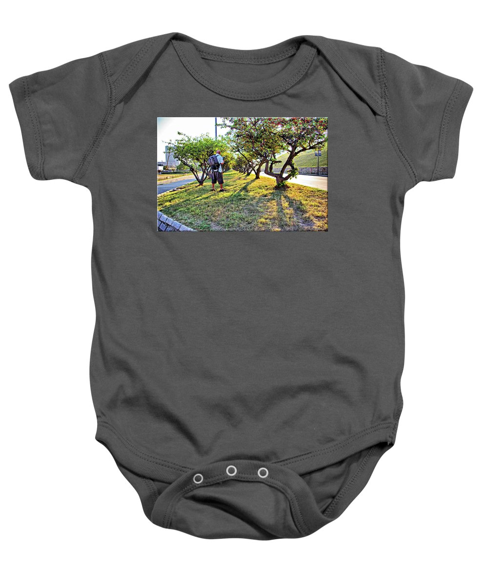 2d Baby Onesie featuring the photograph Photographer by Brian Wallace