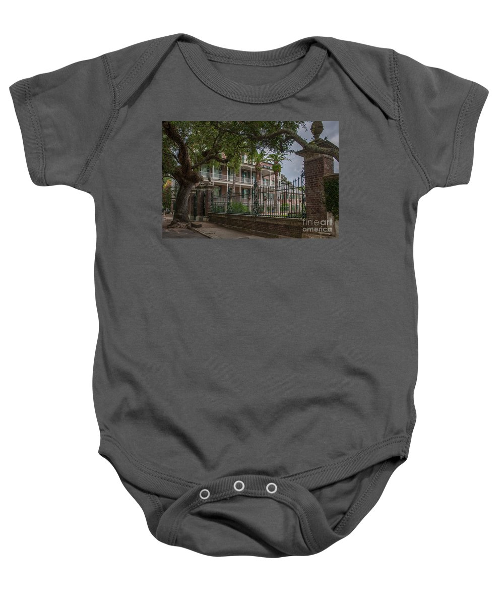 Charleston Baby Onesie featuring the photograph Picture Perfect Home by Dale Powell