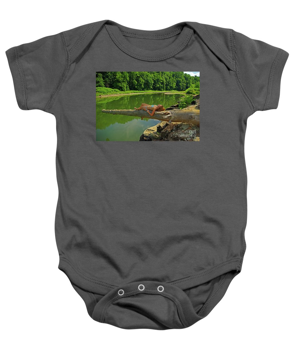 Pennsylvania Baby Onesie featuring the photograph Pine Creek Afternoon by Rich Walter