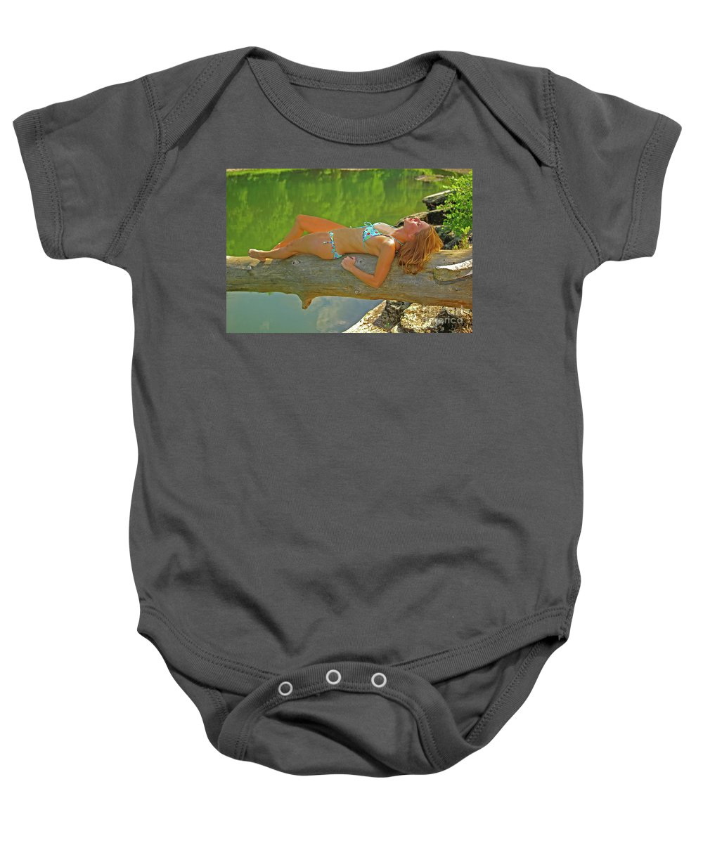 Pennyslvania Baby Onesie featuring the photograph Pine Creek Summer Afternoon by Rich Walter