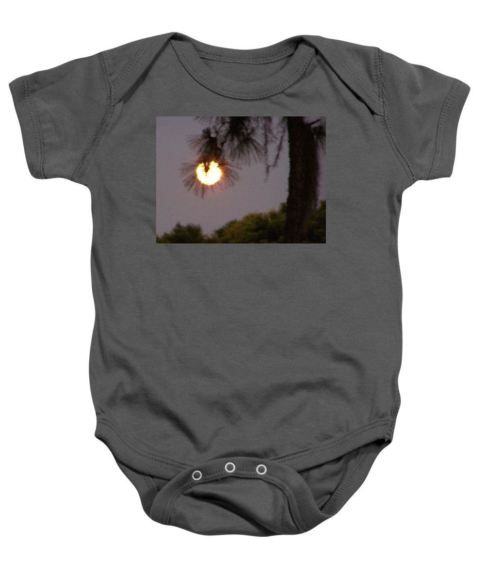 Nature Baby Onesie featuring the photograph Pine Glow by Peg Urban