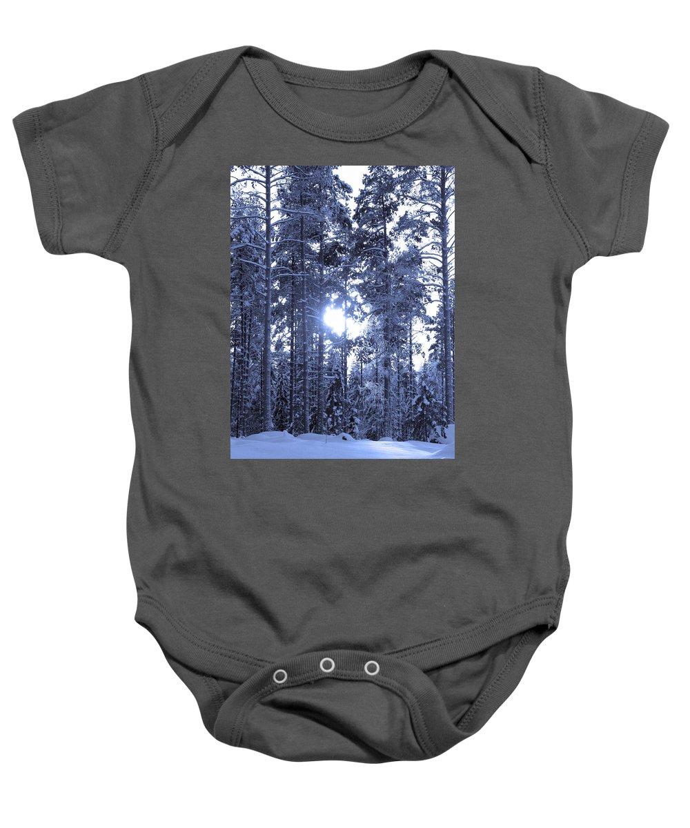 Lehtokukka Baby Onesie featuring the photograph Pines 4 by Jouko Lehto