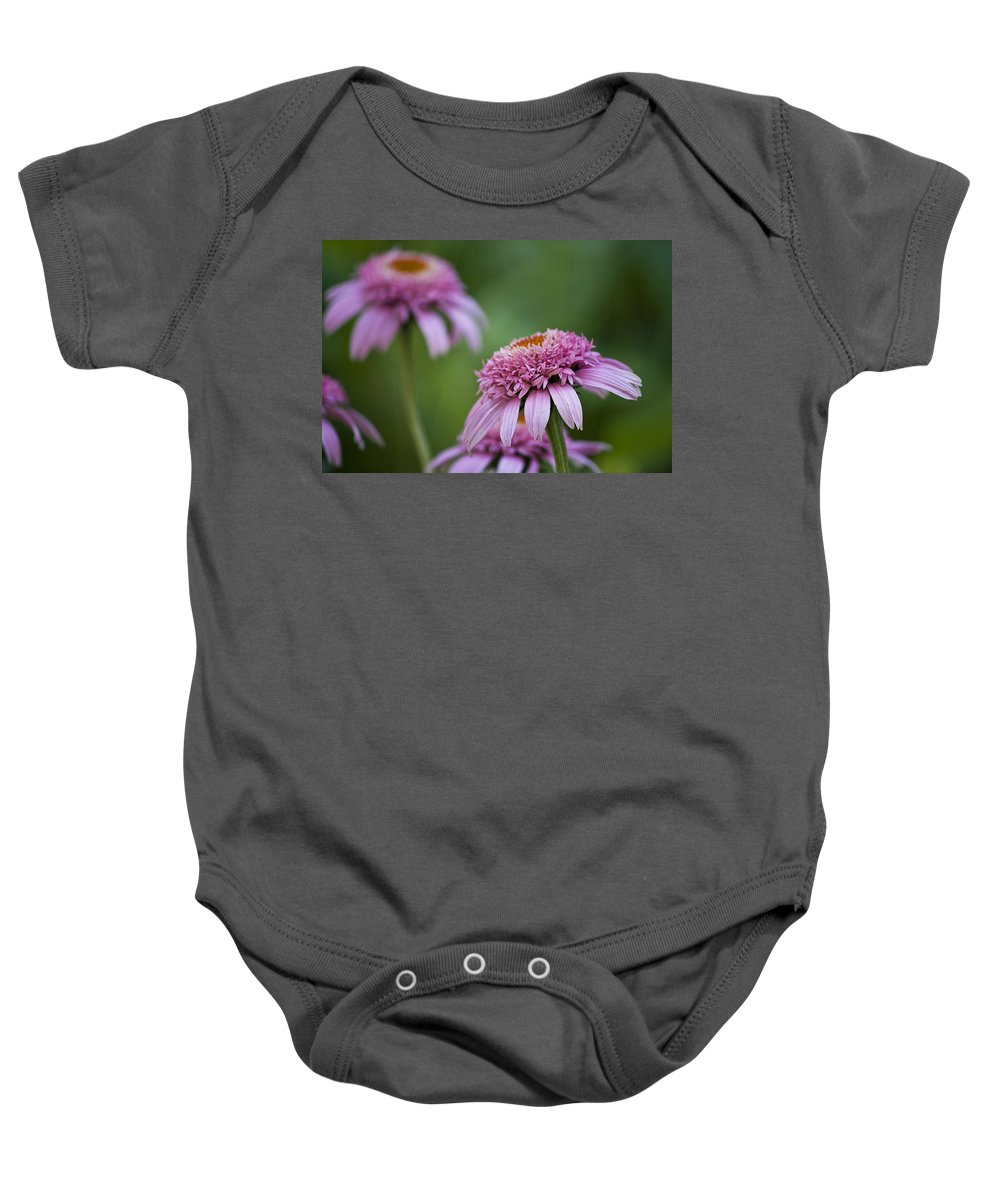 Pink Baby Onesie featuring the photograph Pink Double Delight by Teresa Mucha