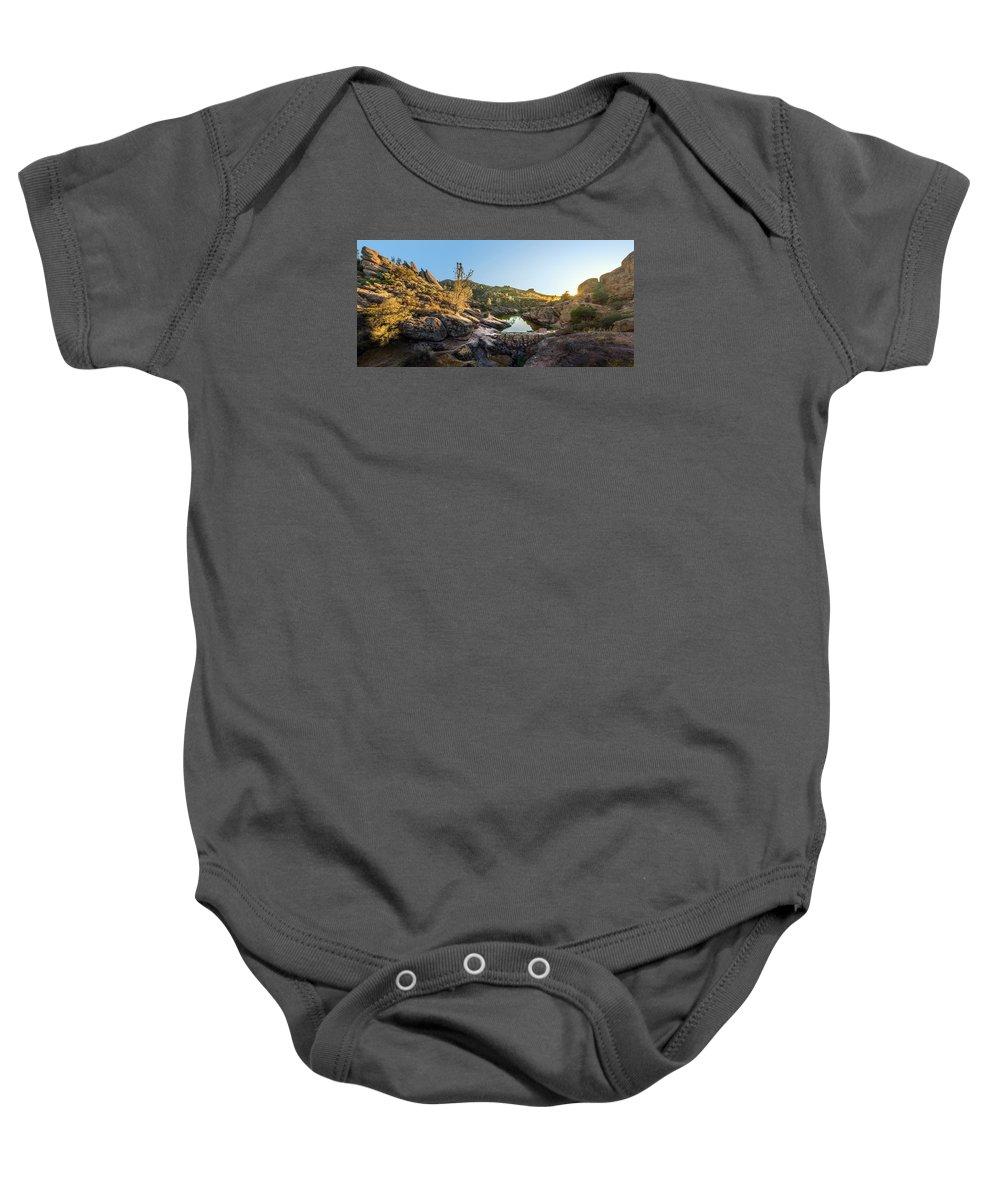 Pinnacles Baby Onesie featuring the photograph Pinnacles National Park by Ian Aldridge