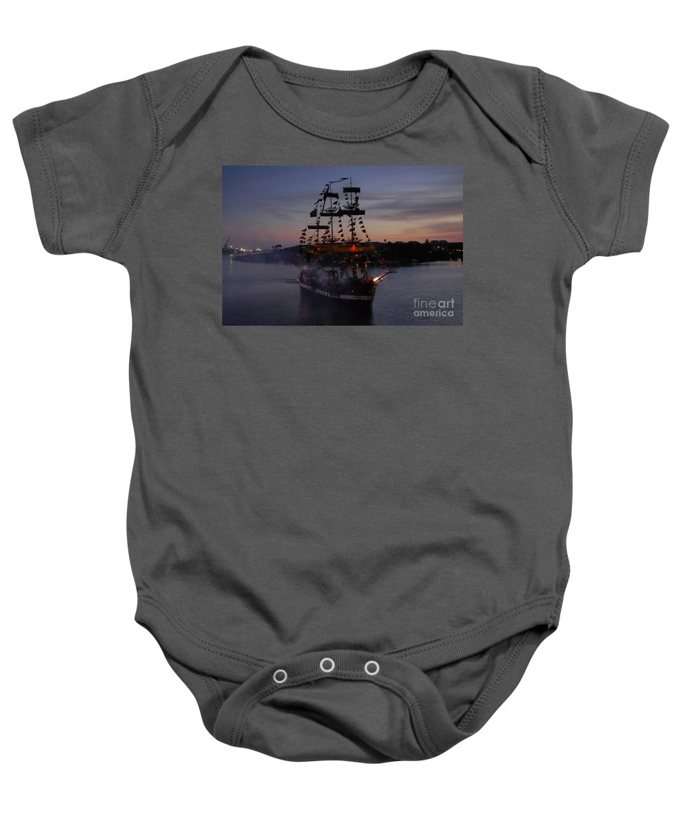 Pirates Baby Onesie featuring the photograph Pirate Invasion by David Lee Thompson