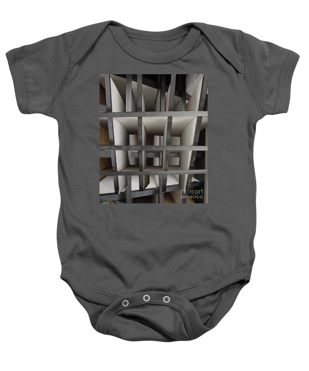 Perspective Baby Onesie featuring the digital art Plain Perspective by Ron Bissett